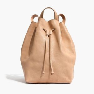 Madewell Somerset Backpack Leather Linen